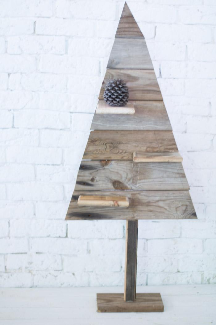 Árbol de navidad madera recuperada diy
