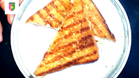 image of triangle shaped sandwich
