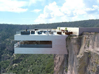 Dare to Eat at the restaurant Dangling This cliff?
