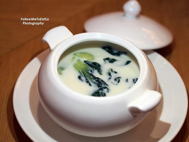 Poached Vegetables in Soya Milk Broth