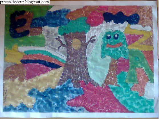 farbami i ołówkiem