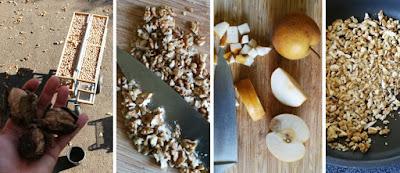 Herbstliches Brot mit Nashibirne und Walnüssen - Vorbereitung