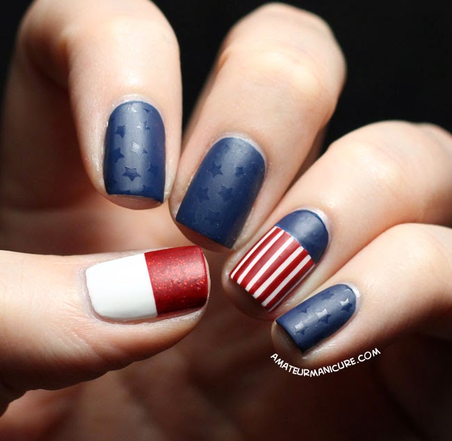 Classic Stripes and Stars | Fun 4th Of July Nail Designs To Show Your Love For America