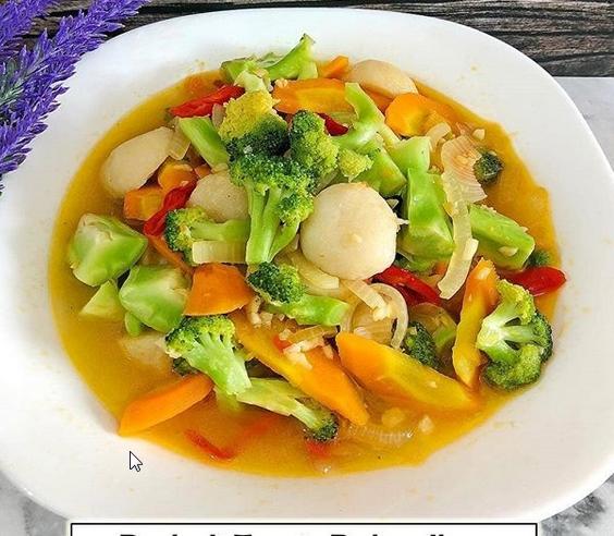 Resep Cara Membuat Brokoli Tumis Bakso Ikan Untuk 4 Porsi Baca Resep