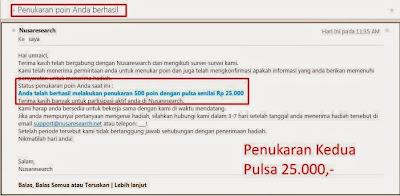 Cashout ke-2 Nusaresearch