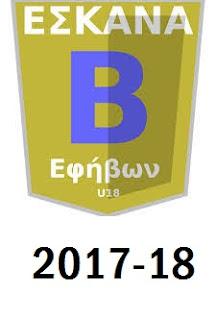 Η κλήρωση της Β΄ Εφήβων 2017-18