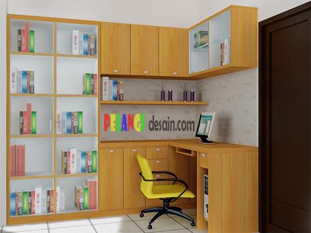 Kitchenset Pelangi Desain Interior: Meja Kerja dan Lemari Buku