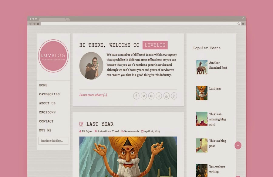 LUVBLOG RESPONSIVE BLOGGER TEMPLATE