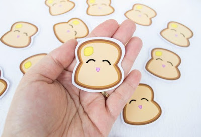 Bread Slice Stickers