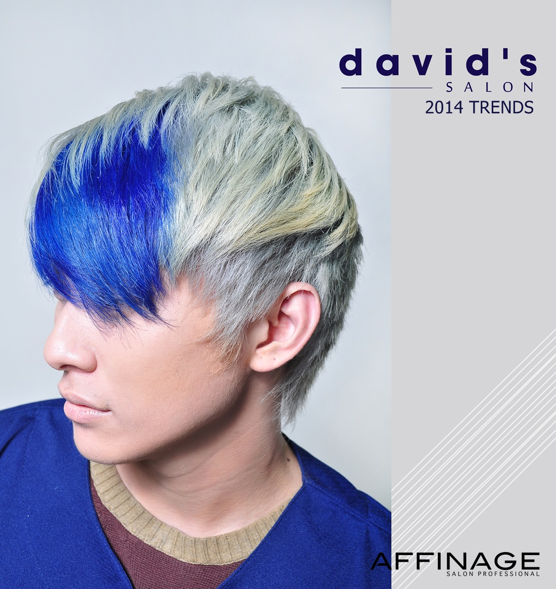 All About Hair For Men Blue Hair Colour For Men