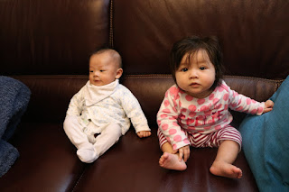 Here are my niblings - my nephew on the left and my niece on the right.