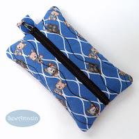 Cairn Terrier Pocket Tissue Holder, Travel Tissue Case