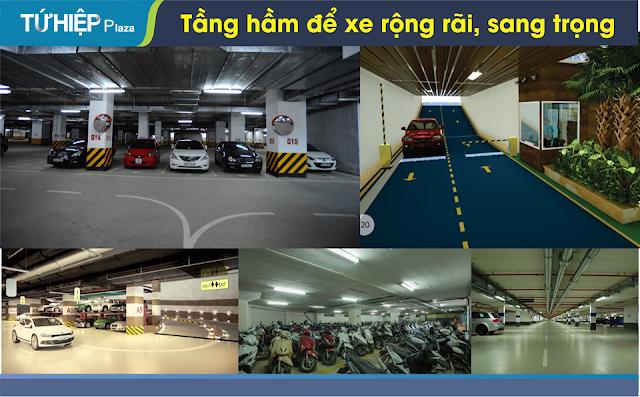Khu tầng hầm để xe hiện đại và có camera giám sát 24/24.