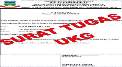 Surat Tugas Uji Kompetensi Guru (UKG)