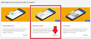 Select Matched Content Google Adsense
