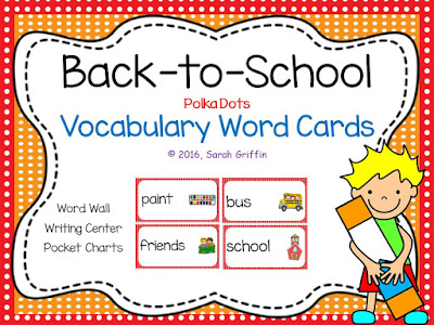 https://www.teacherspayteachers.com/Product/Back-To-School-Vocabulary-Word-Cards-800716