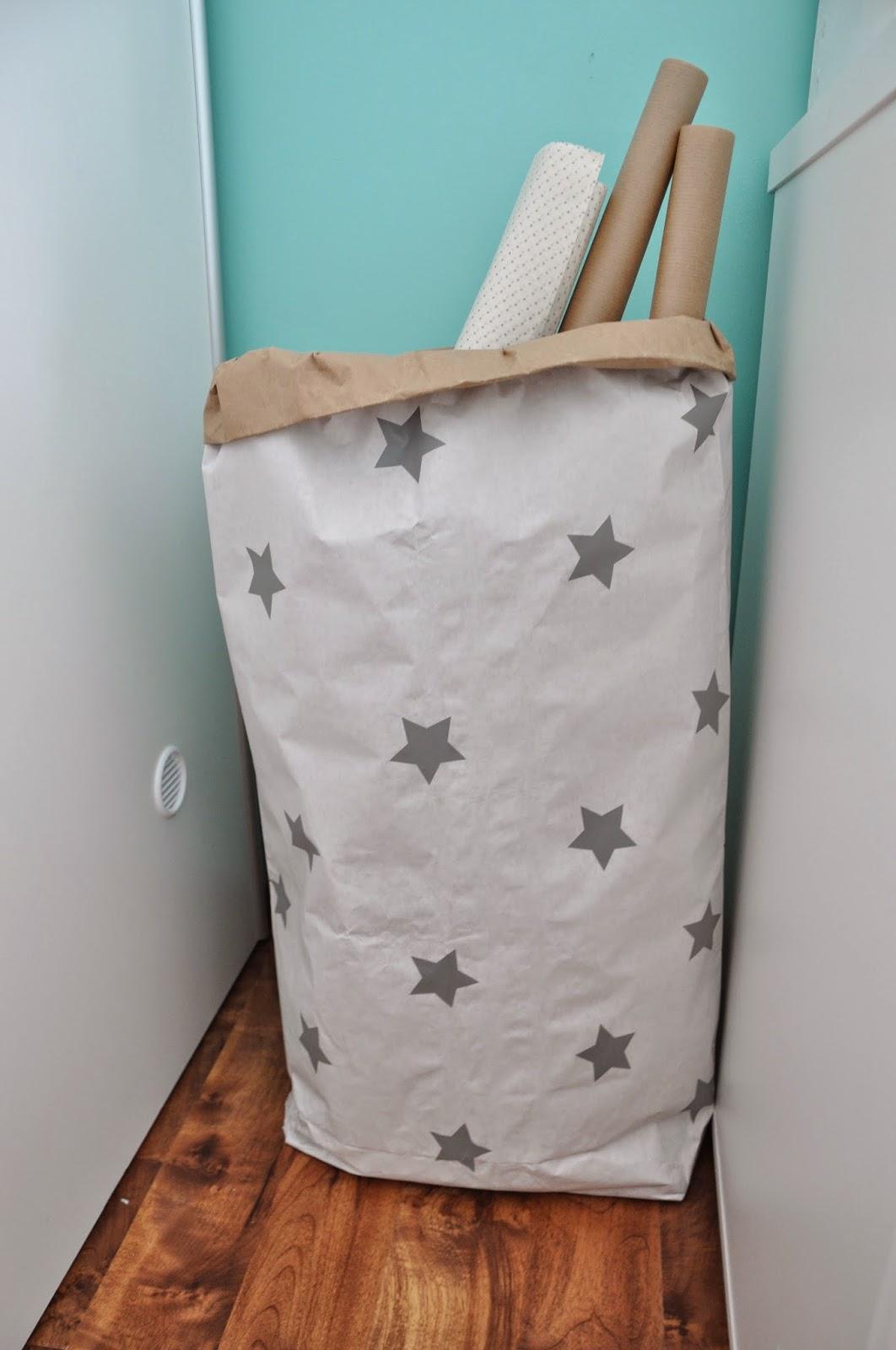 blacksis worek papierowy torba gwiazdki