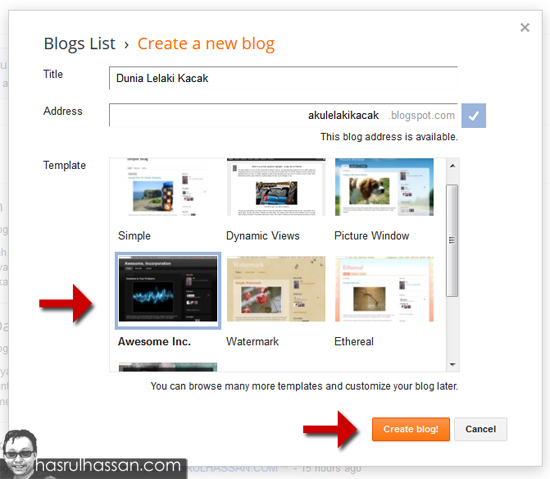 Cara Buat Blog Sendiri