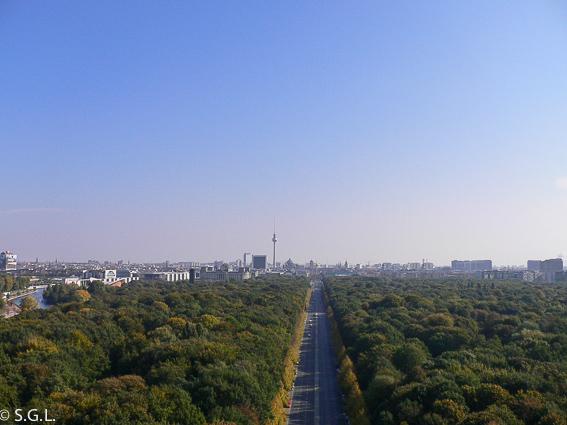 Tiergarten desde la columna Victoria. Berlin en 4 dias