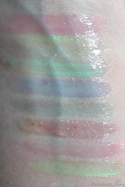 lip gloss swatches