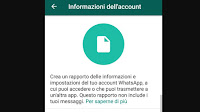 Controllo privacy Whatsapp, dati d'uso e info condivise dell'account