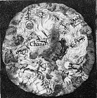 Della Porta, Giambattista — Magiae naturalis sive de miraculis rerum naturalium (title page, detail chaos)