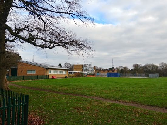 Chancellor's School, Brookmans Park showing area to be developed Image copyright North Mymms News, released under Creative Commons