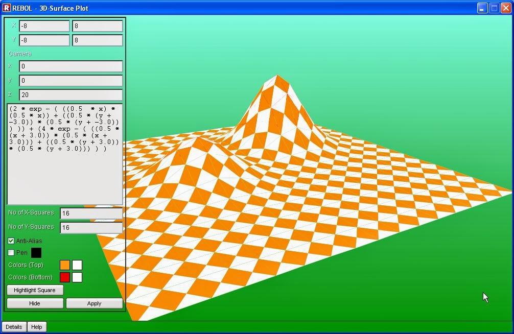 Rebol: Creating a 3D surface