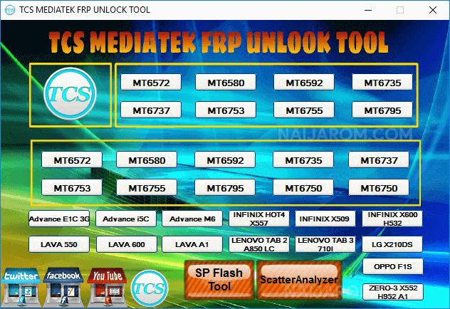 TCS Mediatek FRP Unlock Tool