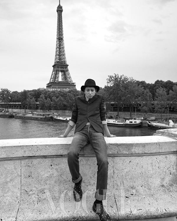 Kang Dong Won in Paris for Vogue Korea September 2014