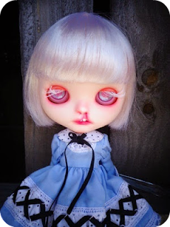 Blythe doll with cleft lip by Amber Carr