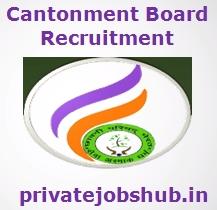 Cantonment Board Recruitment