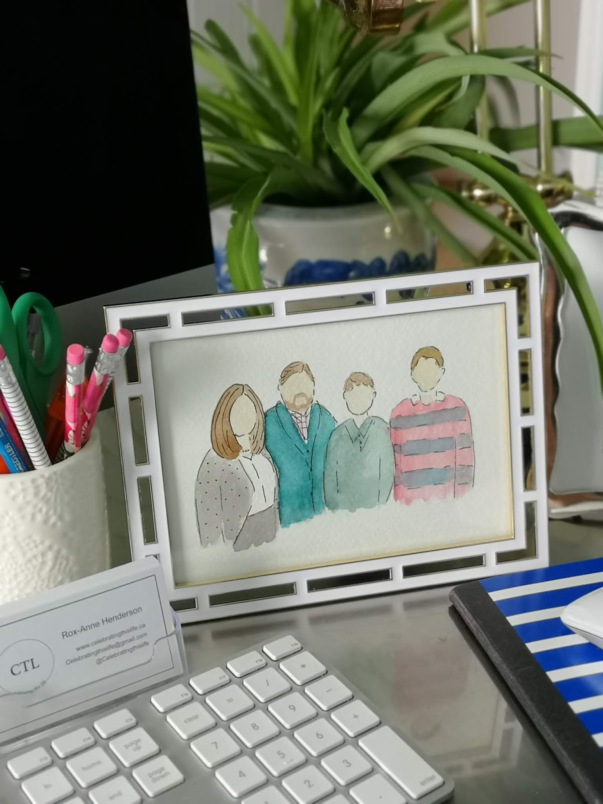 watercolour family painting