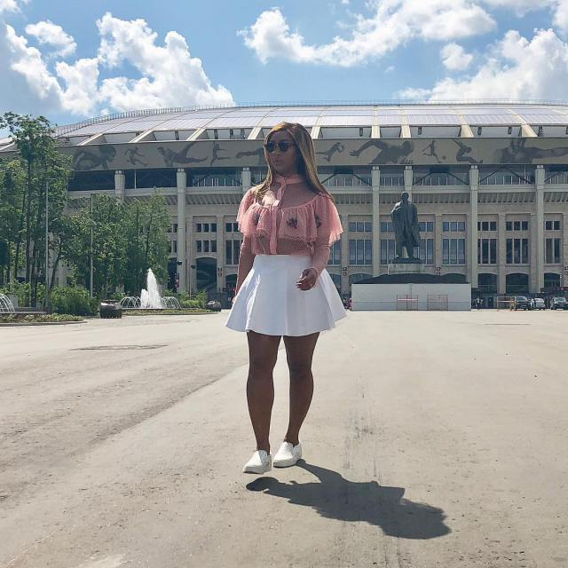 Astonishing Pictures Of Minnie Dlamini In Russia Worldcup -4146