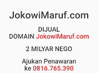 Website Prabowo – Sandi, Jokowi – Maruf Dijual Seharga 1 sampai 2 Miliar