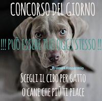 Logo Gioca e vinci gratis 25 euro di cibo per cane o gatto