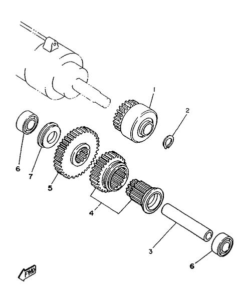 Yamaha Virago: Starter clutch