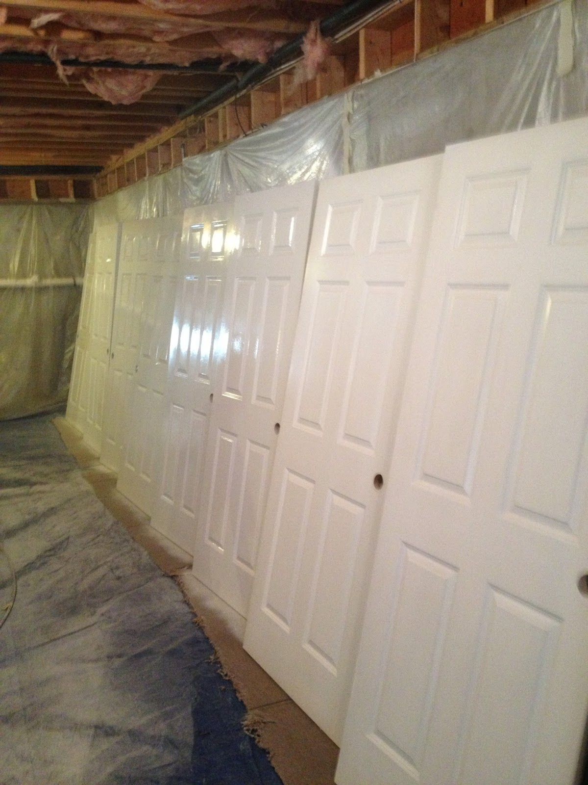 Spraying Doors Interior Painting Hanover Ma Proctor And