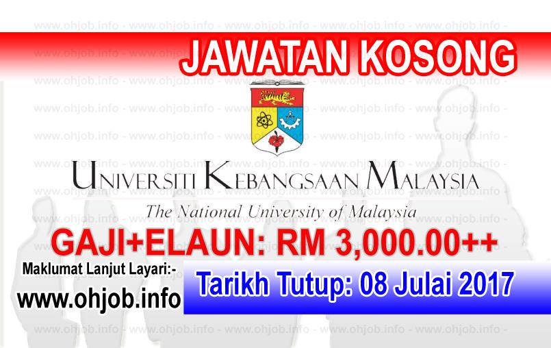 Jawatan Kerja Kosong Universiti Kebangsaan Malaysia - UKM logo www.ohjob.info julai 2017