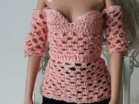 PAP Blusa de crochê para Barbie de Pecunia MillioM