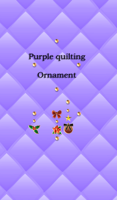 Purple quilting(Ornament)