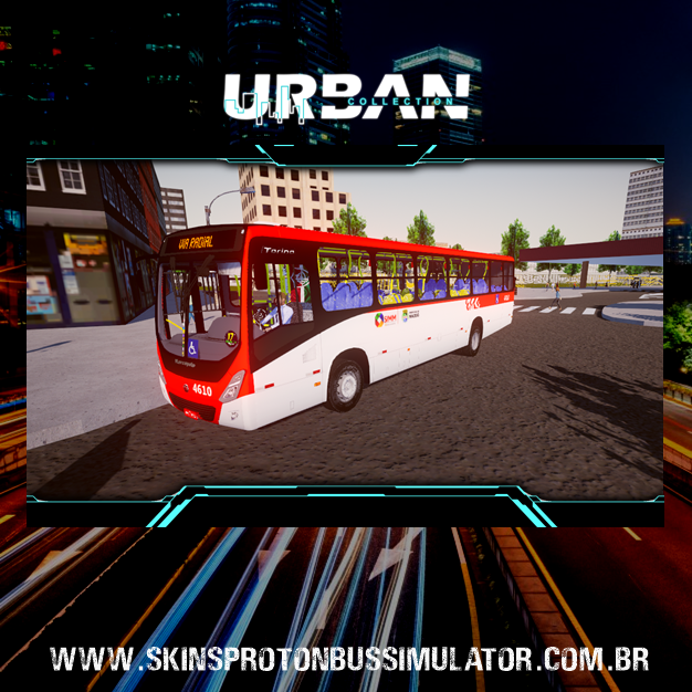 Skin Proton Bus Simulator - Torino 14 MB OF-1721 BT5 Viação Real Alagoas