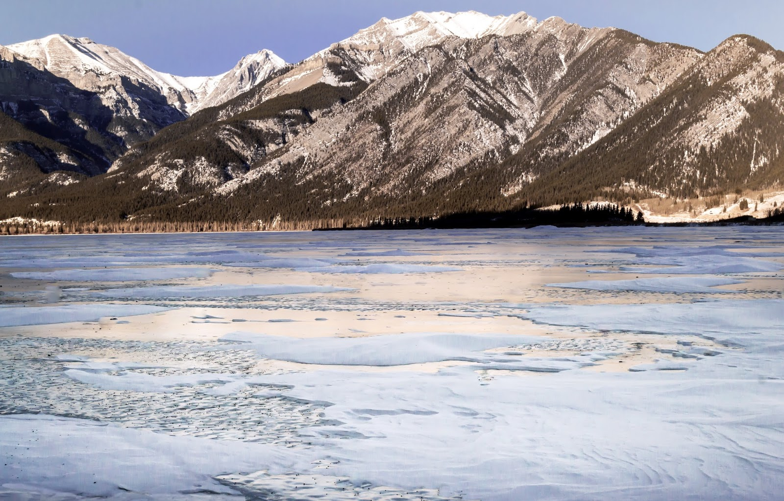 Frozen rivers and Lakes in Alberta