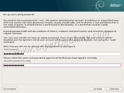 Debian Linux Root Password