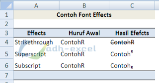 change font style in excel