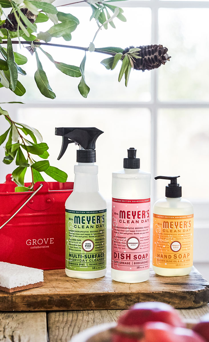 mrs meyer's holiday scents with red caddy free