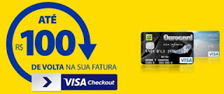 Promoção BB Ourocard e Visa Checkout Devolve até 100 reais