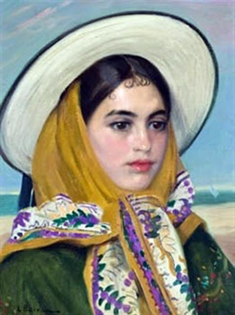 Retrato de Ibicenca, Laureano Barrau Buñol, Pintor Catalán, Ibicenca, Pintor español, Cuadros de Laureano Barrau Buñol