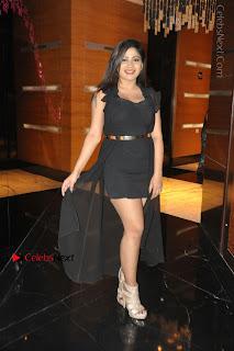 Telugu Actress Model Madhulagna Das Latest Spicy Stills in Black Short Dress  0032.JPG
