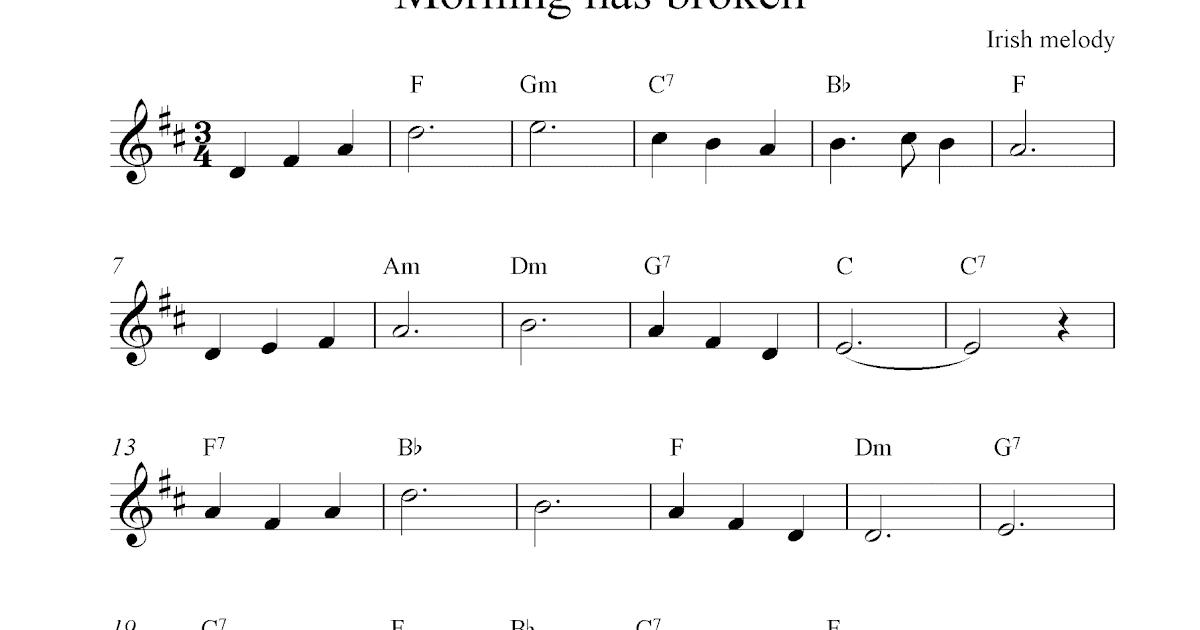 All Music Chords : morning has broken sheet music free Morning Has ...